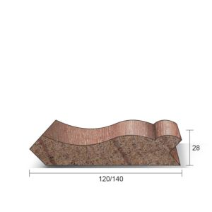 Neuslijst Meranti wit gegrond 28x140x4000mm