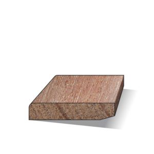Plint hardhout gelakt 12x55x4900mm