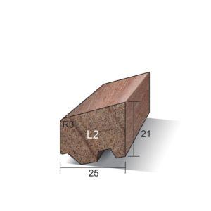 Glaslat L2 Ventilerend 21x25x4900mm gegrond Meranti