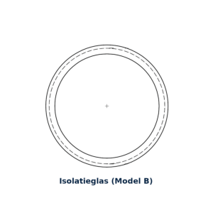 Glasring Multiplex B rond 35cm Iso-glas