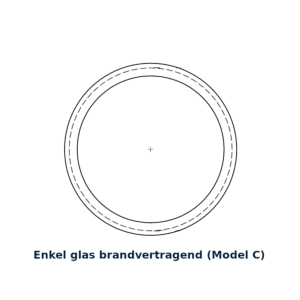 Glasring brandvertragend 25cm model C