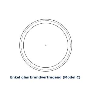 Glasring brandvertragend 35cm model C
