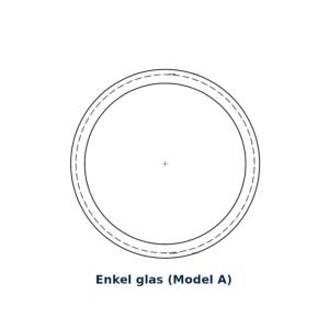 Glasring rond enkel glas 27x20mm (model A)