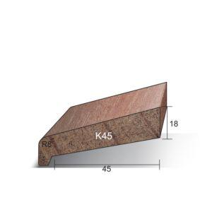 Neuslat K45 18x59x4900mm Meranti gegrond (Sponning 45mm)