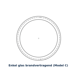 Glasring brandvertragend 25cm model C