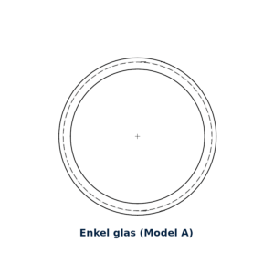 Glasring Multiplex A rond 30cm enkel glas