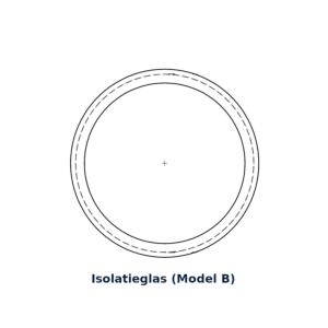 Glasring rond isolatieglas (model B)