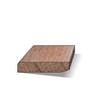 Plint hardhout gelakt 9x45x4900mm